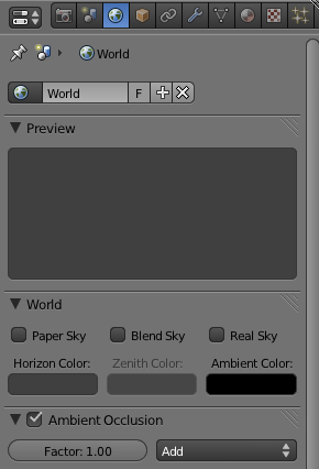 blender world settings