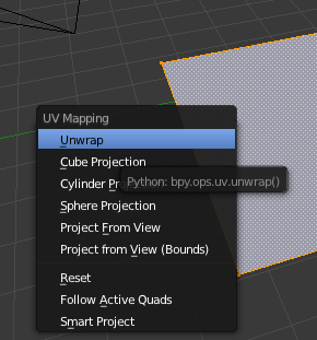 blender generate u/v-map
