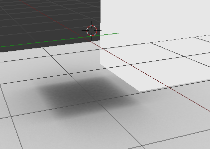 blender moved cube