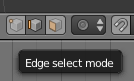blender select vertices edge selection