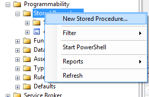create stored procedures